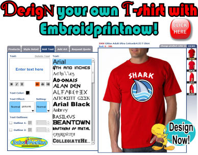 design your own t-shirts today at embroidprintnow
